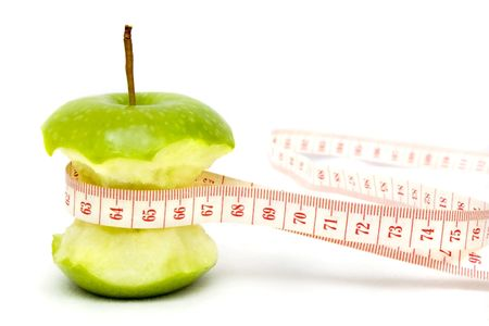 green apple shows the diet result photo