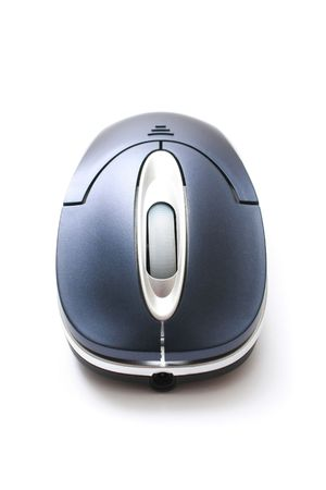 scrollwheel: A wireless mouse isolated on white background. Stock Photo