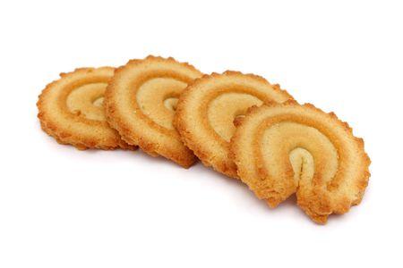 spicecake: Muchas piezas aisladas de las galletas en el fondo blanco. Foto de archivo