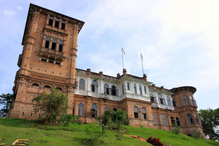 View of abandoned Kellies Castle on sunny day. Stock Photo
