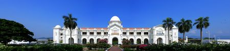 Panorama view of Ipoh Railway Station on sunny day at Perak, Malaysia.