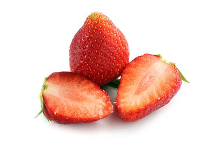 Close up of Korea strawberry over white background. photo