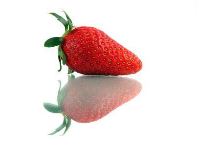 Close up of a Korea strawberry over white background. photo