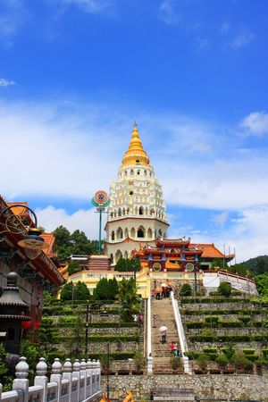 Scenery view of Kek Lok Si Temple, which located in Penang, Malaysia. Stock Photo