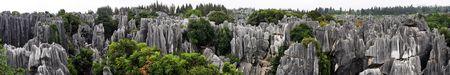 yunnan: Panorama view at Shilin Stone Forest of Kunming, Yunnan, China.