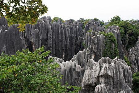 kunming: Scenery view at Shilin Stone Forest of Kunming, Yunnan, China.