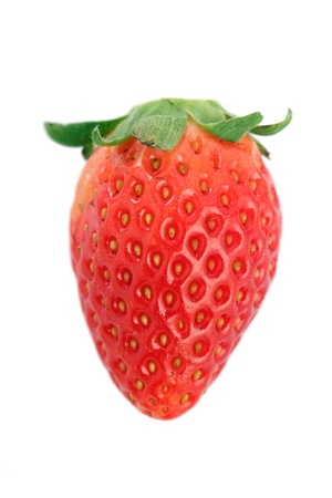 Close up of a Korea strawberry isolated over white background. photo