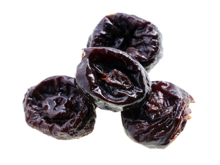pitted: Close up of pitted prunes Stock Photo