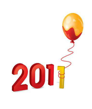 2011 figures new year Balloon shell occurrence Illustration