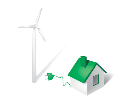 harmless: wind energy Illustration
