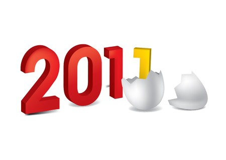 2011 figures new year egg