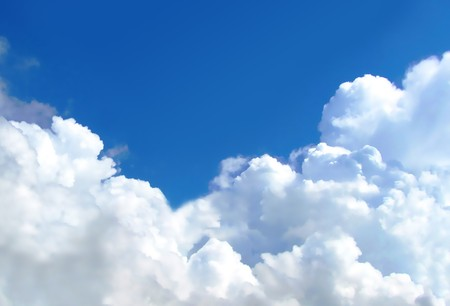 The sky with cumulus clouds storm clouds
