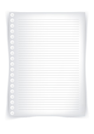 School sheet of paper, sheet of paper from a notebook Illustration