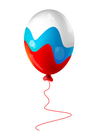 The balloon, flag of Russia