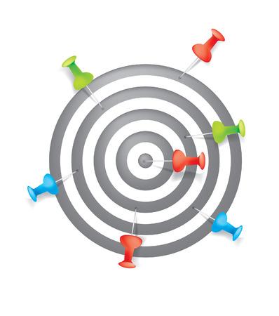 összpontosított: Target Illusztráció