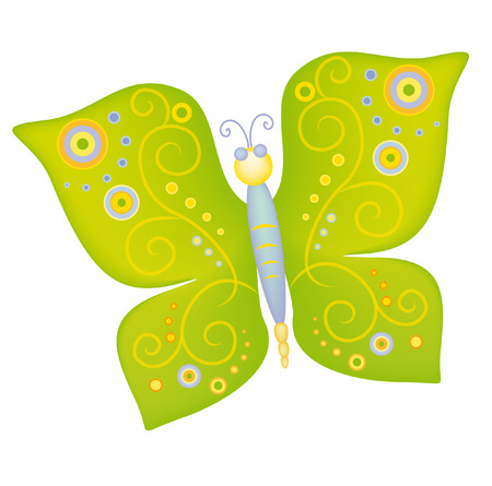 The butterfly drawing pattern design illustration