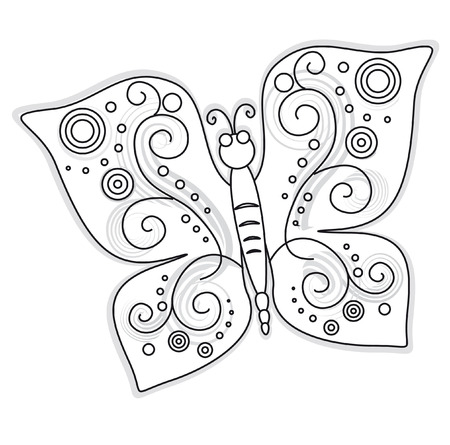 The butterfly drawing pattern design illustration Stock Vector - 7725937