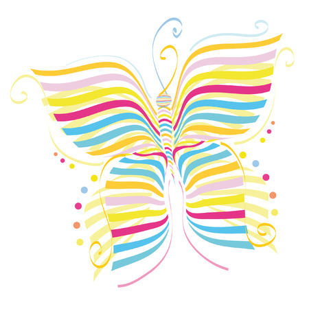 The butterfly drawing a pattern design illustration Illustration