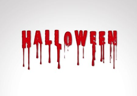 Inscription halloween text horror illustration silhouette blood illustration