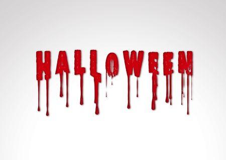 Inscription halloween text horror illustration silhouette blood