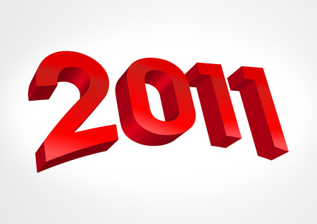 figures in 2011 New Year Christmas Calendar Illustration