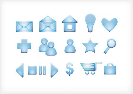 set of icons for the site, mail,  symbol, web Stock Photo - 8053547