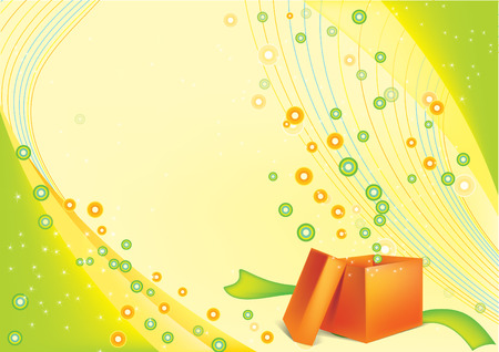 festive background with an open gift card Vector