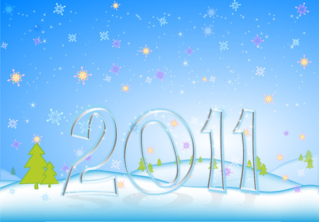 New Years background  new year 2011 Illustration