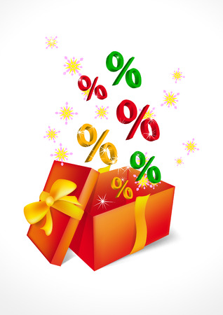 gift discount on white background Stock Vector - 8349136