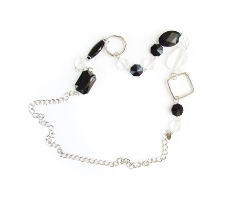 Jewellery beads on a white background