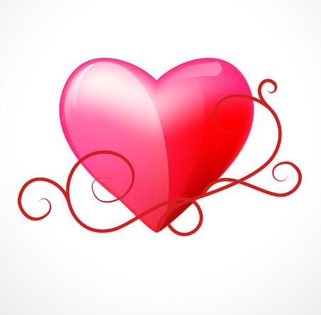 heart on a white background   Illustration