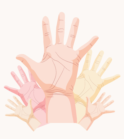 hand, palm Vector
