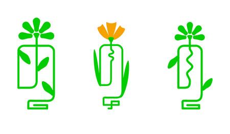 flower bulb, the sign of green electricity Illustration