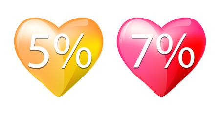 heart sale discount Illustration