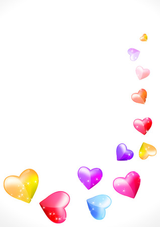 background with hearts and glitter