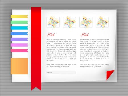 bright template site, blog vector Stock Vector - 8849289