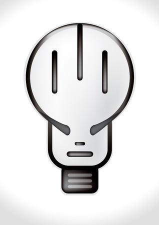 bulb in the form of the human head Vector