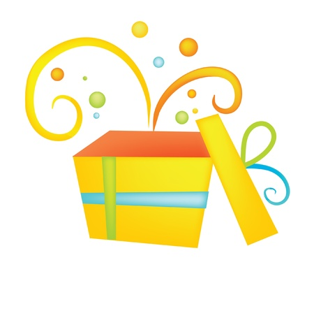 Gift Box, drawing, holiday, icon Stock Vector - 10102415
