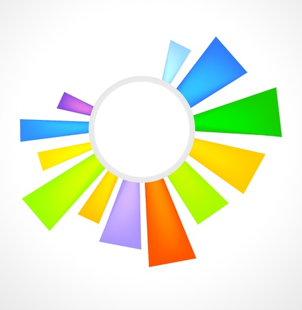 radial: logo, emblem, sunny, bright, colorful, background