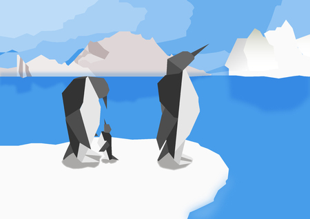 Penguins at the north pole