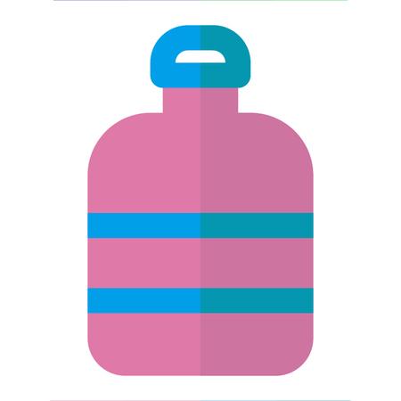 BOTTLE icon flat style pink blue