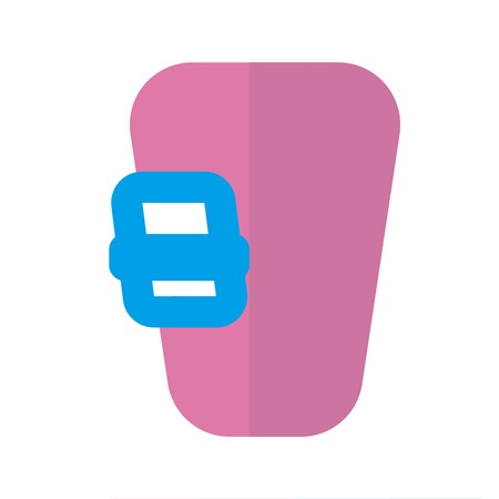Screw gate icon flat style pink blue Illustration
