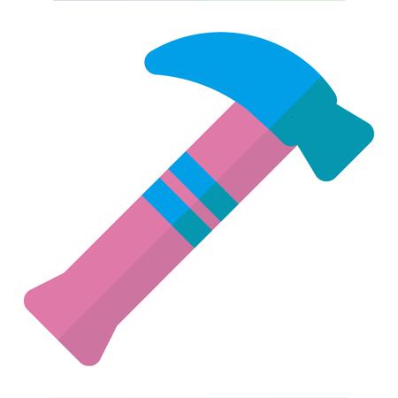 Stick icon flat style pink blue