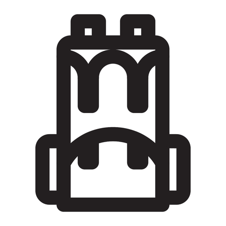 BACKPACK icon line style