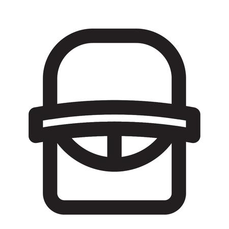 HELMET icon line style 向量圖像