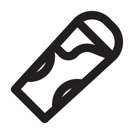 SLEEPING BAG icon line style