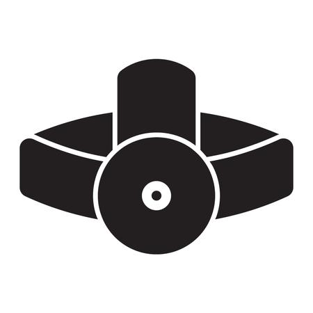 HEAD LAMP icon solid style Vetores