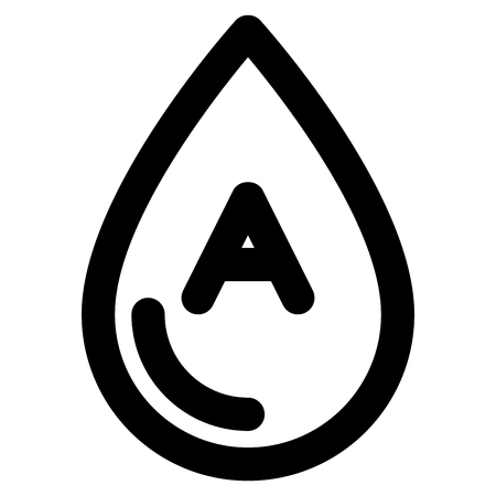 Symbol of blood icon Line style Stock Illustratie