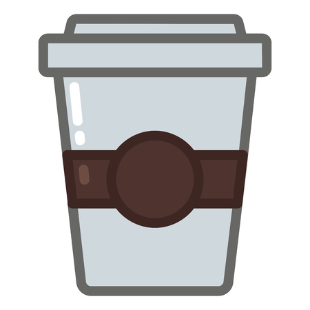Coffee cup icon with filled line style you can use for all kinds of projects Иллюстрация