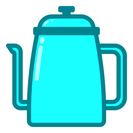 Kettle icon with filled line style you can use for all kinds of projects Illustration